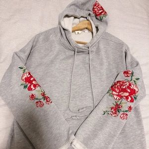 H&M floral grey fashionable hoodie